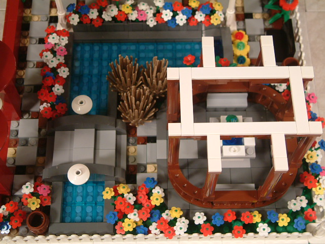 Lego garden, custom lego botanic garden, lego flowers and trees