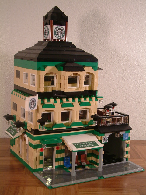 Modular Lego Coffee Shop - Custom Lego Coffee Shop - Rare Lego model