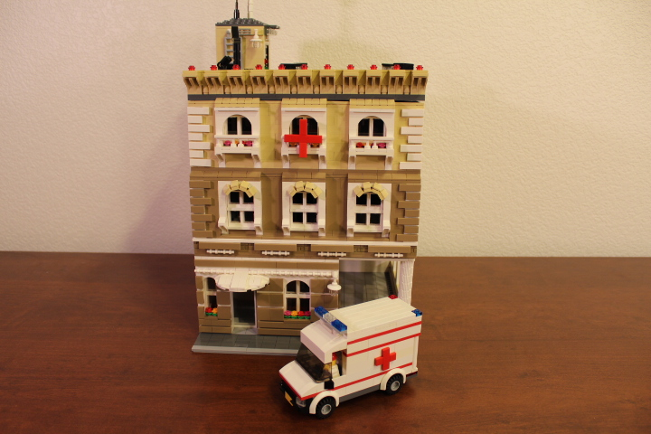 custom lego ambulance moc