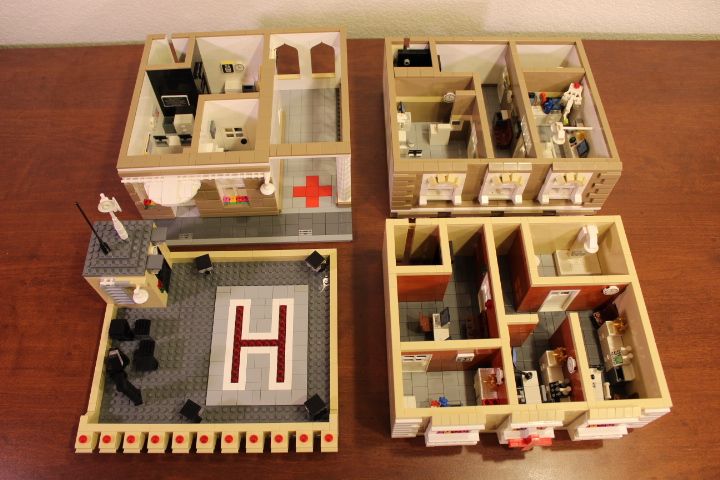 modular lego custom moc hospital building doctor office