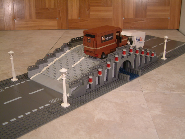 Custom moc Lego bridge, lego bridge, custom moc lego car bridge