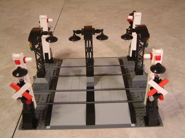 Custom moc Lego train crossing, lego train crossings