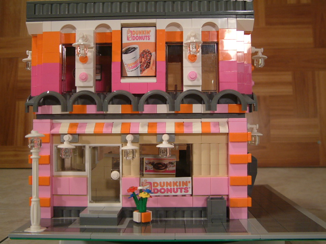 Modular Lego Dunkin Donut Shop - Custom Lego Donut Shop - Rare Lego Donuts Shop model
