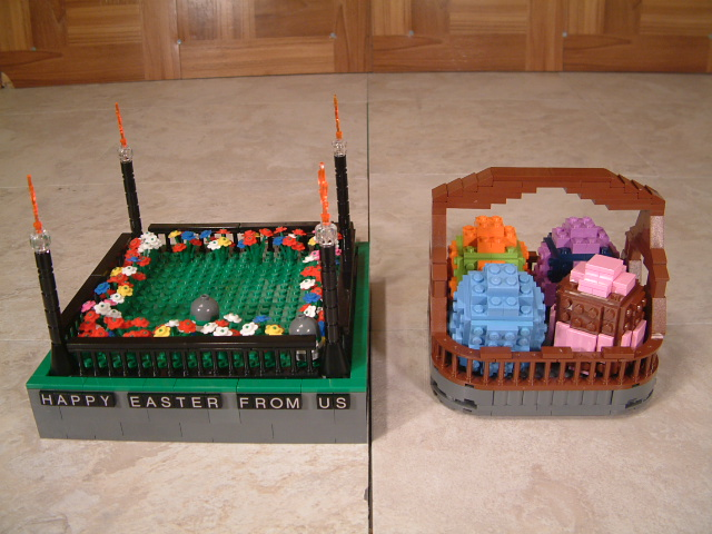 Lego easter eggs, custom lego easter basket with eggs