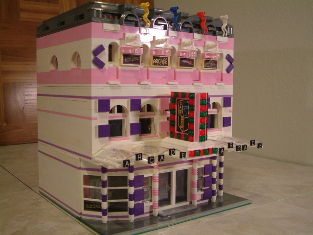 lego friends custom moc modular arcade