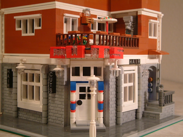 Modular Lego Hair Salon - Custom Lego Hair Salon Dresser - Rare Lego modular hair salon model