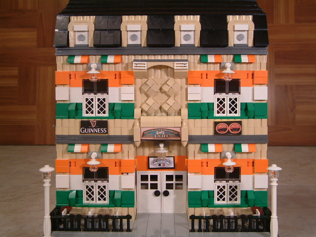 Lego irish pub - Custom Lego irish pub - Rare Lego model
