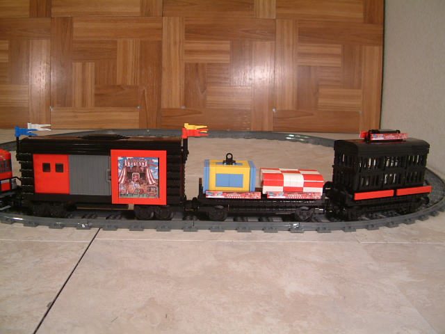 Lego circus train, custom lego musical train, lego musical circus train, moc lego circus train