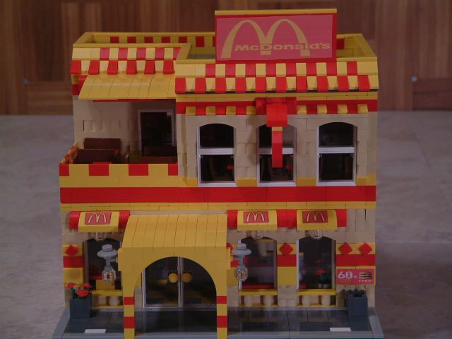 Modular Lego Restaurant McDonalds- Custom Lego Set - Rare Lego restaurant model