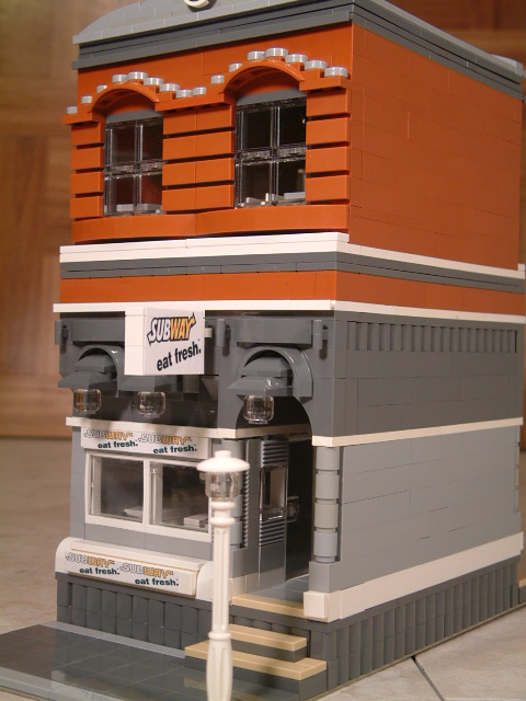 Modular Lego Sandwich Shop - Custom Lego Subway Sandwich Shop
