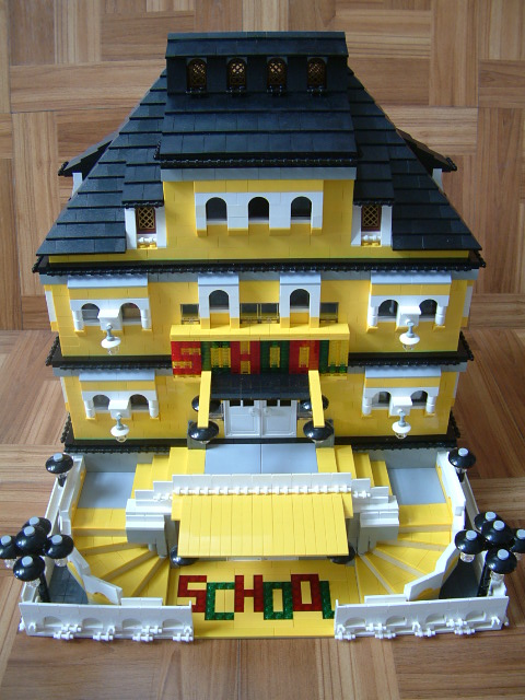 Modular Lego School - Custom Lego Set - Rare Lego model