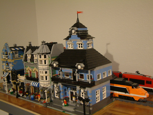Modular Lego Train Station - Custom Lego Train Station Set - Rare Lego Train Station model