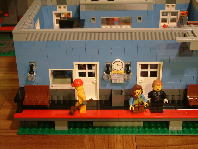Modular Custom Lego Train Station Rarebricksets Com