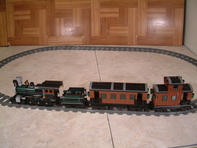Custom Wild west lego train cars for the lone ranger constitution train set. Learn how to built a wild west western lone ranger lego passenger car and caboose.