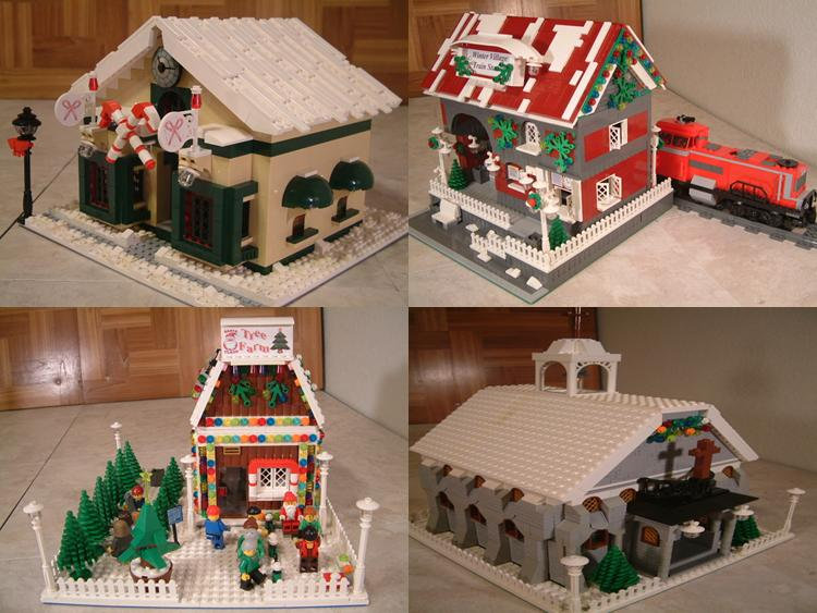 Custom moc lego winter village candy store.