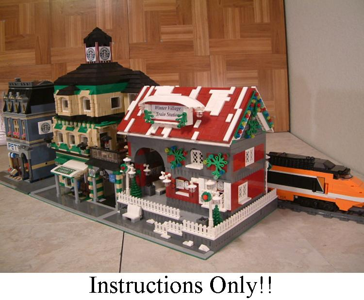 Our Winter Village Train Station is one of many Lego train stations