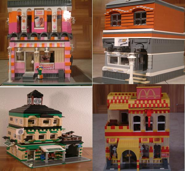 Custom Lego restaurants - modular Lego restaurants