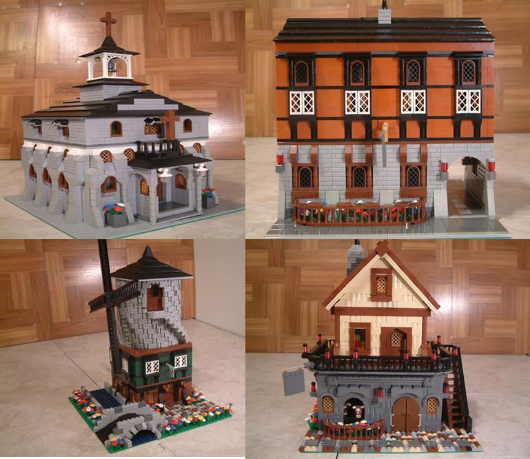 Custom moc lego modular medieval barn farmhouse.