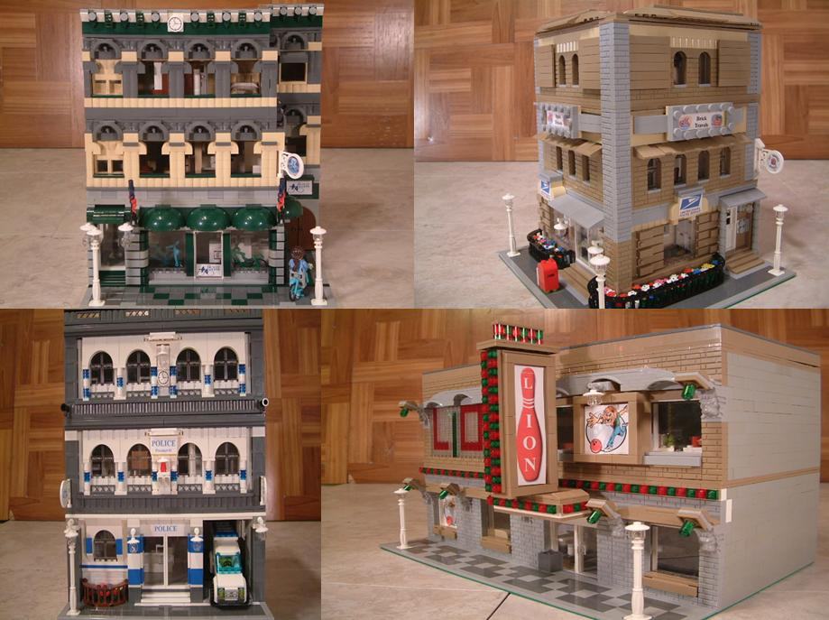 Modular Lego buildings - Custom Lego modular buildings