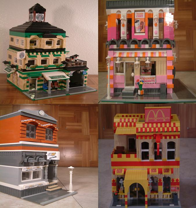 Modular Lego restaurants - Custom Lego restaurants